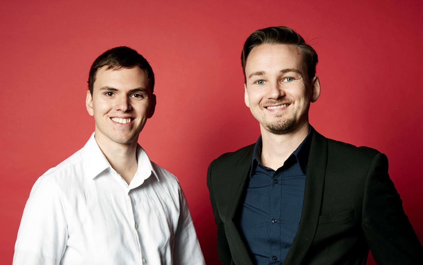 a photo of ClickMechnic co-founders Felix Kenton (left) and Andrew Jervis (right)
