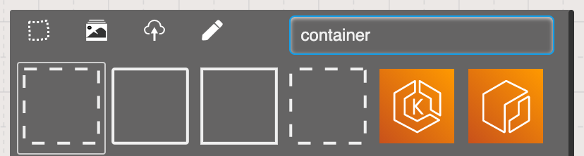 Search Sketchboard's container shapes