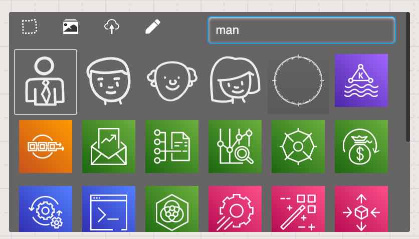 Search specific icons on Sketchboard
