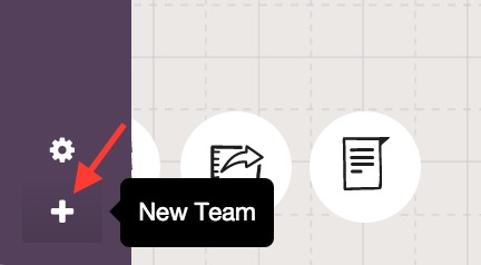 Adding a new team on Sketchboard