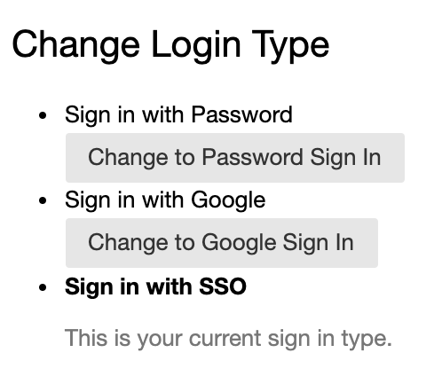 Change sign in type